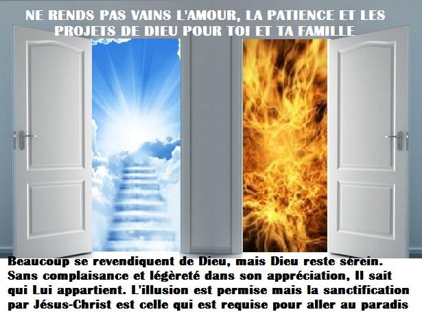 Le sens de la vie c'est se préparer par Jésus-Christ à la rencontre de Dieu