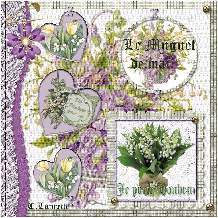 """C.Laurette Template n°5 """"le muguet """""""