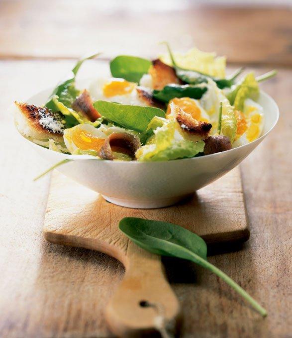 Salade césar et anchois