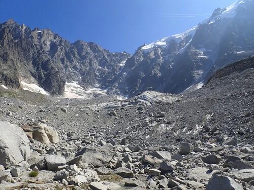 Le glacier des Pélerins