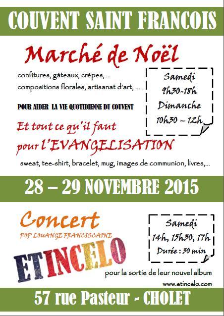 Marché de Noel au Couvent St François