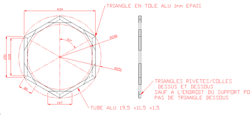 plan cage hexagonale seule