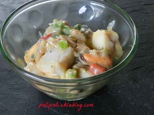 Mix de poissons-moules et légumes