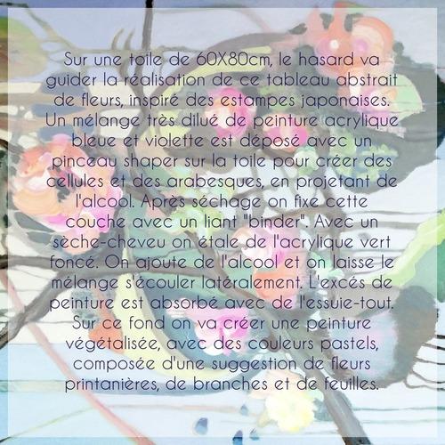 Dessin et peinture - vidéo 3500 : Comment le hasard, l'intuition et l'imagination deviennent le ferment de la créativité ? - peinture acrylique abstraite.