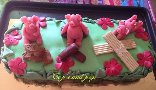 ♥ gâteau les trois petits cochons ♥