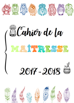Cahier journal 2017 - 2018 COULEURS