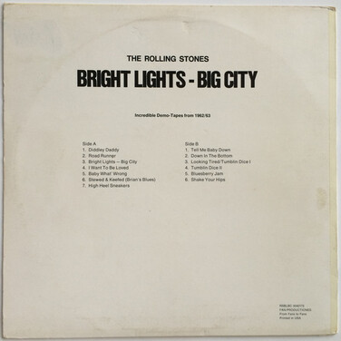 Bootleg's Week - Jour 7: The Rolling Stones - Bright Lights Big City