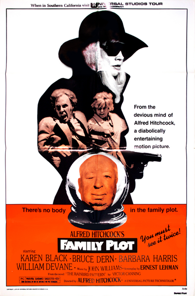 Complot de famille, Family plot, Alfred Hitchcock, 1976