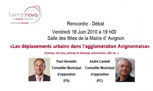 """Débat """"Les déplacements urbains dans l'agglo avignonnaise"""""""