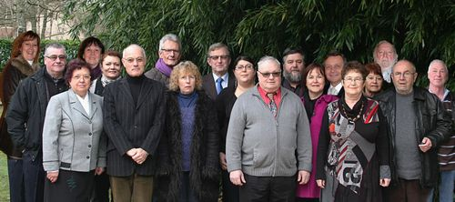La photo du groupe des candidats