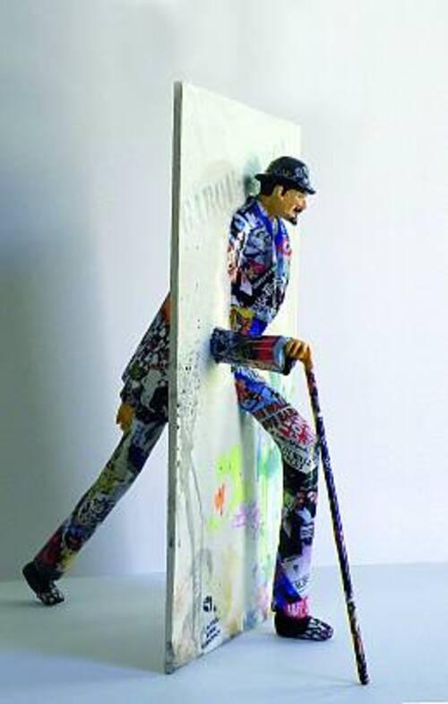 Paul Dijan et ses sculptures en attitude