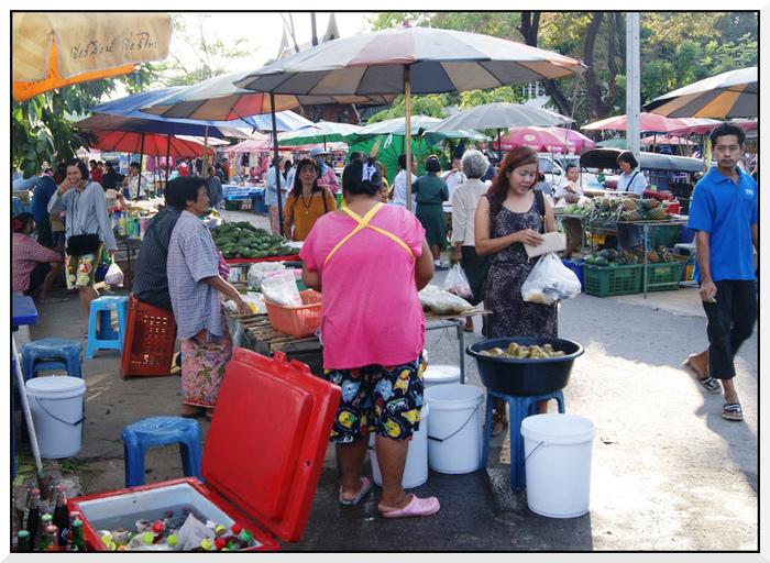 Le marché de Bang Khal en Thaïlande