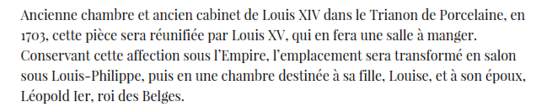 ** VERSAILLES.- LE GRAND TRIANON sous LOUIS XIV**