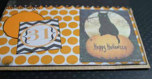 "Scrap / Une carte pour dire ""Happy Halloween !"""
