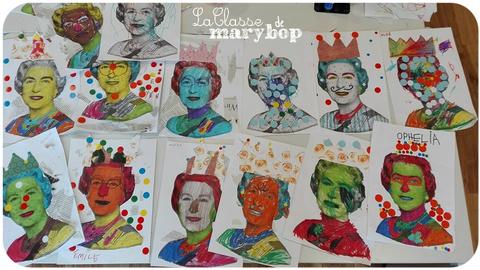 Portraits de la reine Elisabeth.