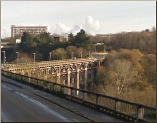 Images de Saint-Brieuc . Le pont de Toupin .