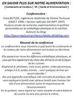 Présentation Alimentation (contenu/contenants) au Phare (TNF) le 3 Juin à 19h30