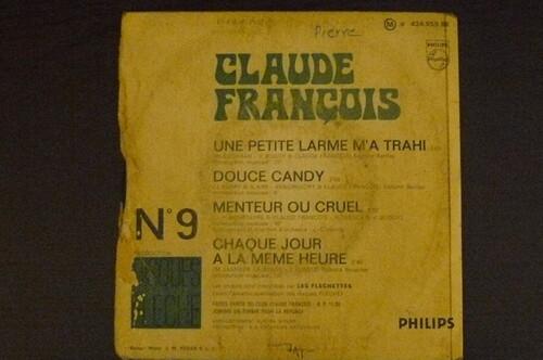 Claude François mes vinyls photo fait par moi