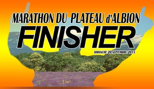 Marathon du plateau d'Albion 2015, dimanche 20 septembre