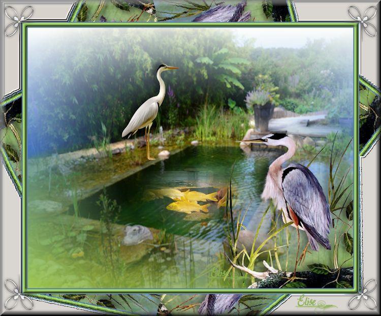 Mes créas : Un étang qui résonne de bonheur