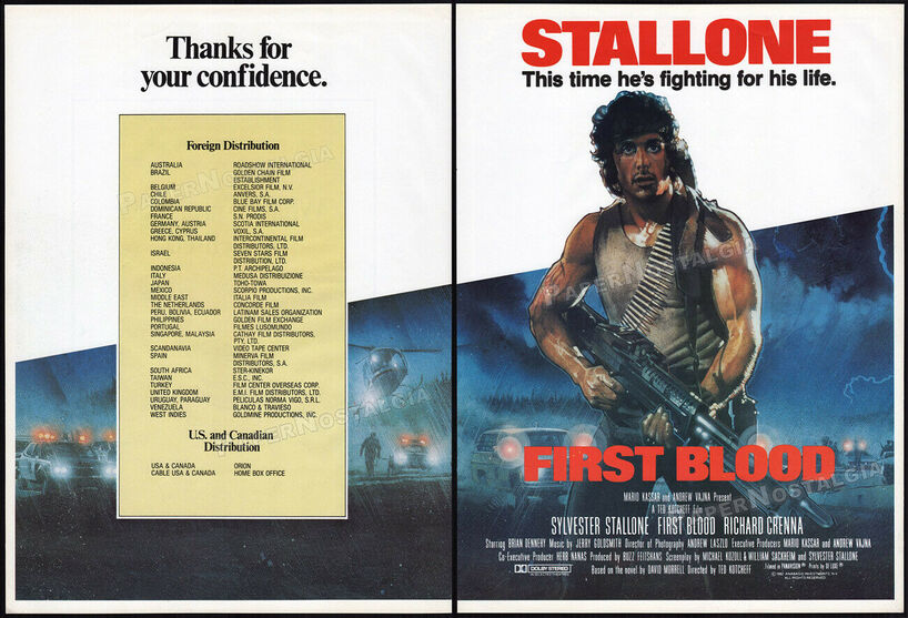 RAMBO (FIRST BLOOD) SYLVESTER STALLONE- 2 MARS 1983