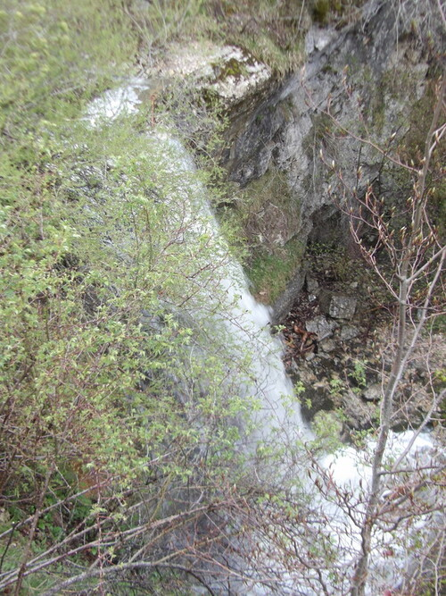 La cascade du Trou de la Marmite
