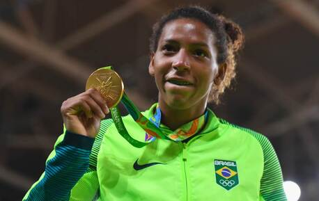 Rafaela Silva wins Brazil's first gold medal of the Rio 2016 Olympic Games