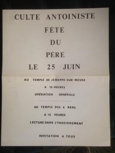 Affiche annonce de la Fête du Père (vers 1930)