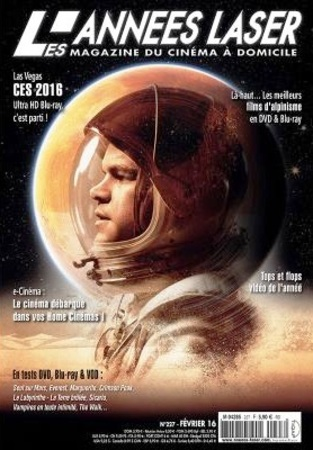"Les Années Laser N° 227 février 2016 ""Magazine DVD Blu-ray"""