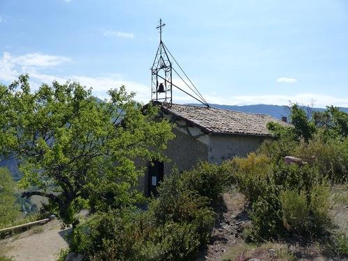 La chapelle Saint Pancrace (Préalpes de Digne)