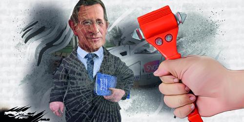 dessin de JERC du mercredi 21 février 2018 caricature SNCF rapport Spinetta  Nationaliser les pertes et privatiser les profits www.facebook.com/jercdessin @dessingraffjerc