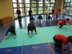 Séance de gymnastique à la place d'une séance de rugby