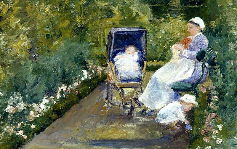 Cassatt /2:                        1878: dans le jardin ...