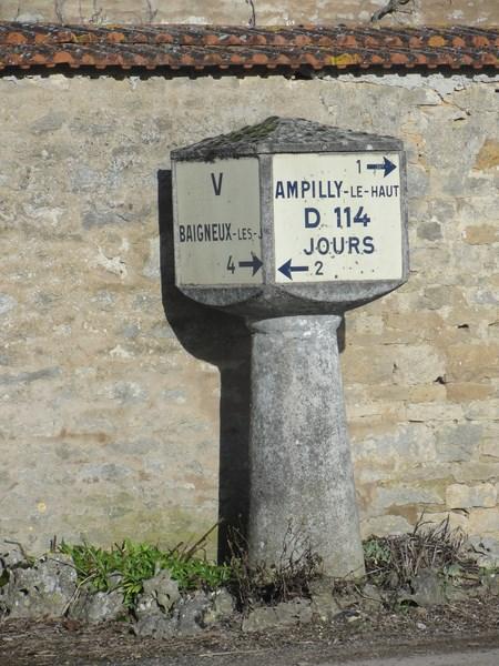 Les dernières bornes Michelin existant dans le Châtillonnais