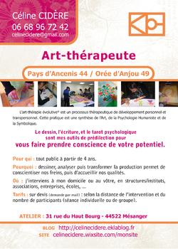 flyer art-thérapeute Céline Cidère
