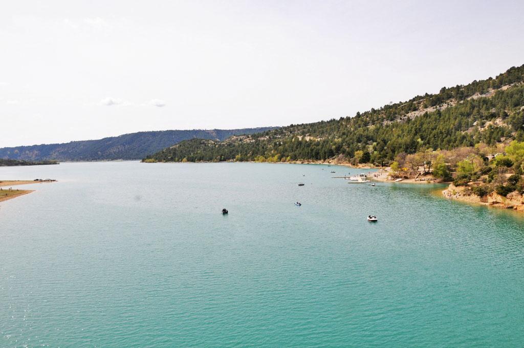 Nous quittons le lac de Sainte Croix...