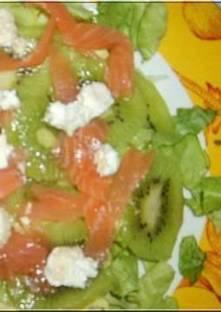 salade de kiwis au saumon