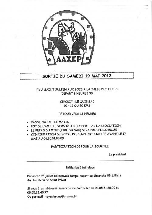 Convocation du 19 mai 2012