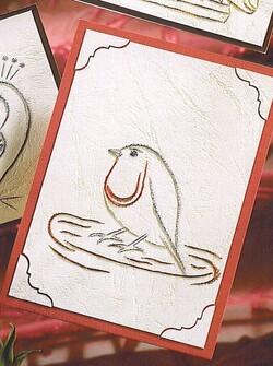 De nouvelles cartes brodées