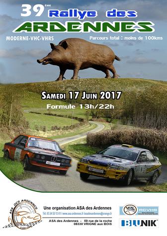 Le Rallye des Ardennes 2017.