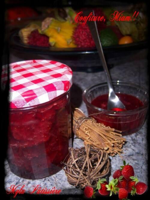 Confiture de fraises,Miam!!!