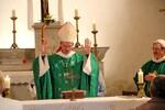 Mgr Xavier Malle au Saix pour la bénédiction de l'église rénovée