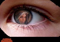 tubes visages, main, yeux