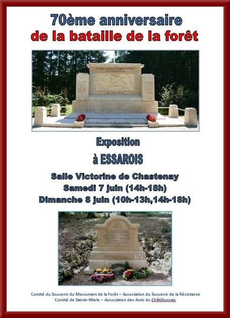 Une belle exposition sur la Résistance à Essarois les 7 et 8 juin...