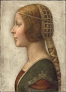 Léonard de Vinci (attribué à), Profil de la Belle Prince