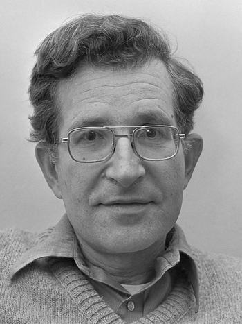 Noam Chomsky (1977, by Hans Peters)