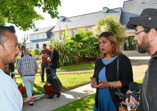 1ère circonscription du Finistère (Quimper/Briec/Fouesnant):les Insoumis donnent de la voix (LT 29/05/2017)