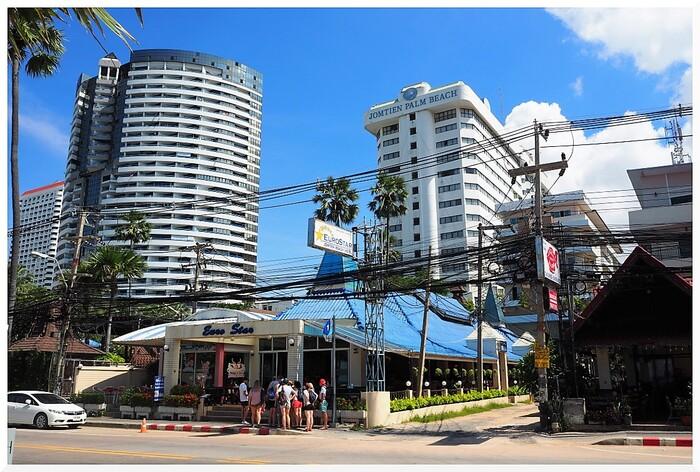 Immeubles à Jomtien. Thaïlande.
