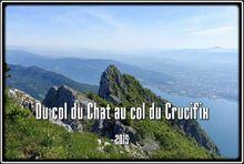 La chaîne de l'Épine du col du Chat au col du Crucifix