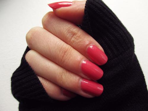 Des ongles doux et féminins : mon rose Nature Republic